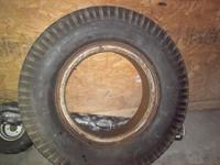 8 X 25 X 20 Both wheel & tire are in good condition.