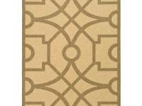 The Martha Stewart Living Fretwork Sand/Coffee 6 ft. 7