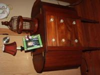 Cherry cabinet I have the original pieces nobs. Asking