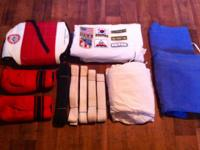 Kit includes: 1. Sparring Chest Protector, 2. Sparring