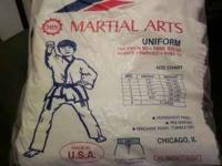 Martial Arts Uniform, size 5-fits up to 200 lb. Worn