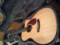 I have an Acoustic Electric Martin DCX1E with hard