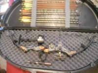 Martin Cougar Compound Bow with Black Hard Case. Comes