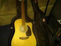 Martin DC1E cutaway acoustic electric. Fishman built in