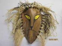 African Style Mask hand painted on Queen Ann's Palm