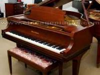 Mason & Hamlin grand piano. American walnut with