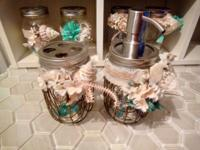 See my collection of Mason Jars decorated in Beach
