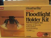 MASON WeatherTite 2 Lamp Floodlight Holder Kit (#217)