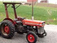 This tractor is a 45 horsepower, it has a 3 cylinder