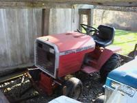 Massey plow tractor w/ weights & chains - runs good -