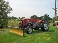 MASSEY FERGUSON 50 TRACTOR W/ WESTERN SNOW PLOW AND