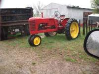 Selling a good running massey harris 22. Call or text .