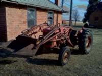 Selling a MH50 tractor with loader. Has live 540 pto,
