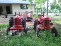2 massey harris pacer tractors. Both run but need work.