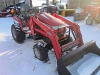 Massey Ferguson GC2300 sub-compact tractor with loader.