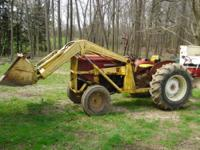 1950's Massy-Harris 50 front end loader tractor with