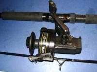 Master 651 fishing reel 12-20 lb on a two piece, 7'ft,