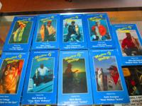 MASTER'S OF WALLEYE  VHS TAPES  VOLUME'S 1 THROUGH 9