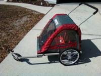 Mastercycle bike trailer/stroller with bike