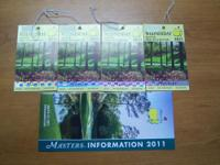 Description 2011 Master tickets (4) - Wednesday Full