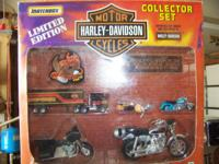 new in box matchbox motorcycles and semi limited