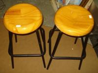 This matching bar stools are in very good condition.