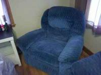 I have for sale a couch and recliner set. They are blue