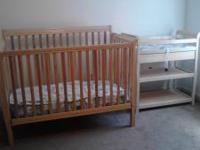 Crib,changing table, and dresser for sale good