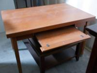 Great Matching Desk and File Cabinet. Honey colored