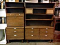 Matching Set of Dressers with Detachable Hutches - Good
