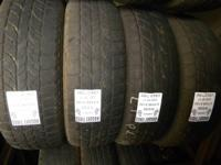 I have numerous matching sets of utilized tires with