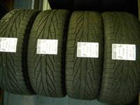 I have many matching sets of utilized tires with