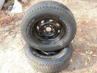 2 goodyear tracker 225/70/15 in like new condition  no