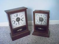 Two matching antique clocks in excellent condition!