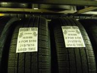 I have several matching sets of used tires in 215/70/16