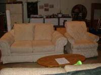 Used French Provincial Sofa And Matching Chair For Sale In
