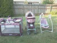 this is a matching four peice baby set. it comes with a