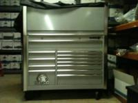 Matco Tool Box and top Hutch. Deep drawers and full