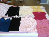 A range of maternal and post-partum/nursing clothes,