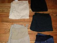 I have one pair of maternal pants, 3 pairs of capris,