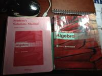 selling this Math 103 Int Algebra book along with the