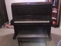 Mathushek upright piano 1930s-1940s. Good condition for
