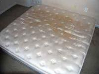 Moving Sale!! King Size Mattress -- $50/- Twin Size Bed