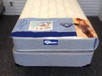 Twin Mattress-2 Sided Aruba Plush by Spring Air. Great