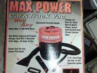MAX POWER 12 VOLT car/truck-Wet/Dry Vac. Powerful