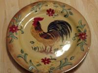 I have nice Maxcera Honey Rooster hanging wall plates.