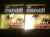 2 MAXELL HGX-GOLD TC-30 PREMIUM HIGH GRADE CAMCORDER