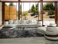 Maxwest 105 4 Pcs. Genuine Leather Sectional Living