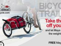 Most versatile bicycle trailer. Converts into the