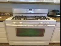 2010 White Maytag Gas Range. Excellent condition. We